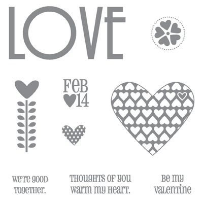 Filled with love stampset